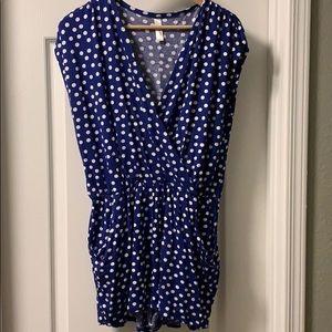 Loveappella Stitch Fix polka dots + pockets romper